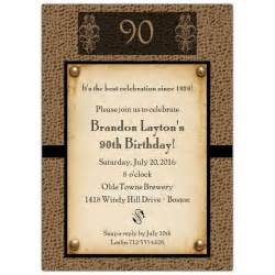 snakeskin antique 90th birthday invitations paperstyle