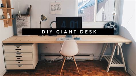 long office desk for two diy giant home office desk youtube