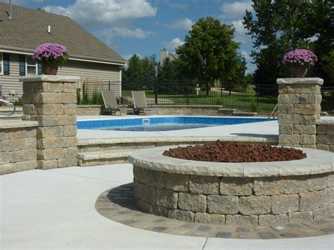 pool pit completed inground swimming pools landscaping