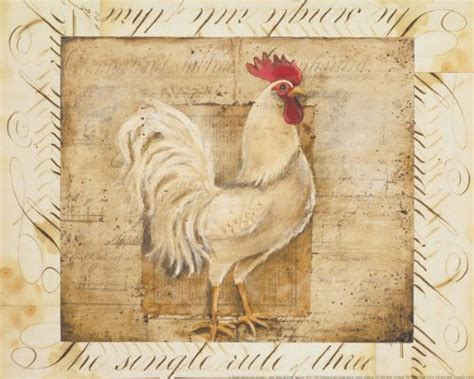 wallsthatspeak 2 rustic rooster country kitchen prints