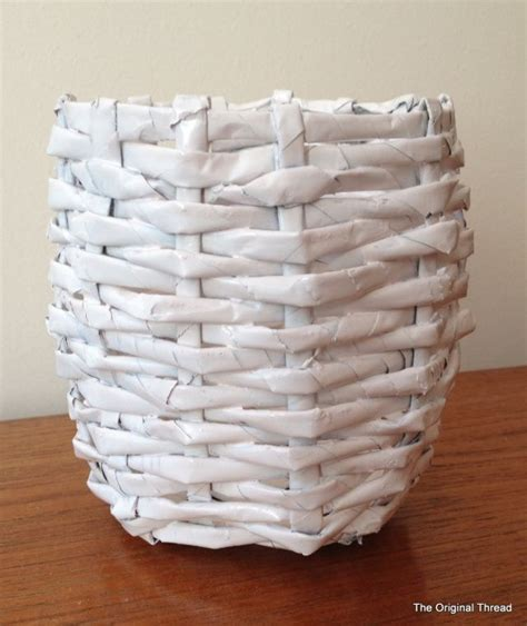Paper Crafts Recycled Newspaper - diy recycled newspaper mini basket recycle newspaper