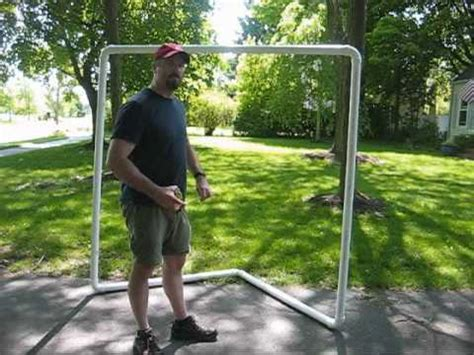 diy lacrosse goal how to make a lacrosse goal for 30 youtube