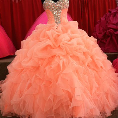 quinceanera neon themes 201 coral quinceanera dresses floral beaded sweetheart