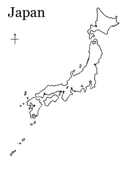 Printable Images Of Japan | japan map to label with tokyo kyoto mt fuji