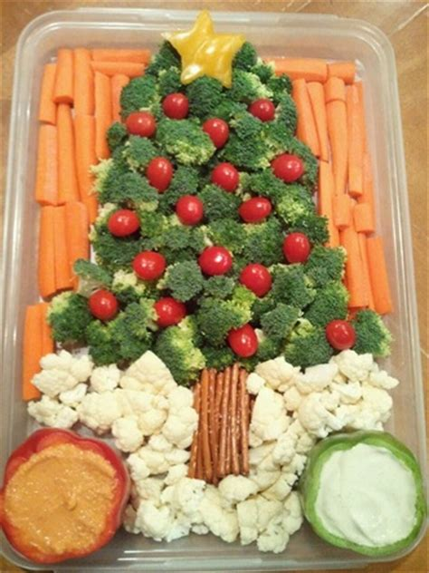 christmas tree relish tray festive vegetable dishes for more broccoli