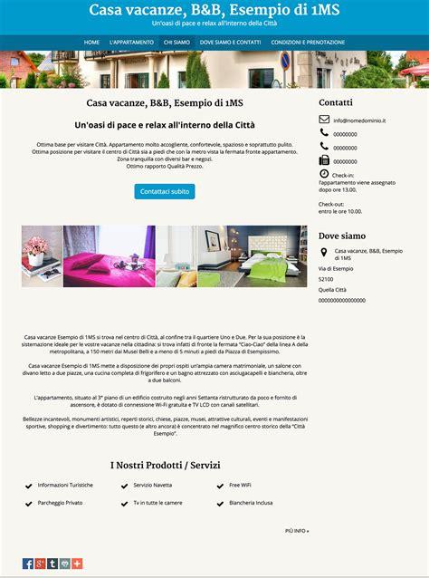 web casa crea facilmente un sito web per le tue vacanze ed