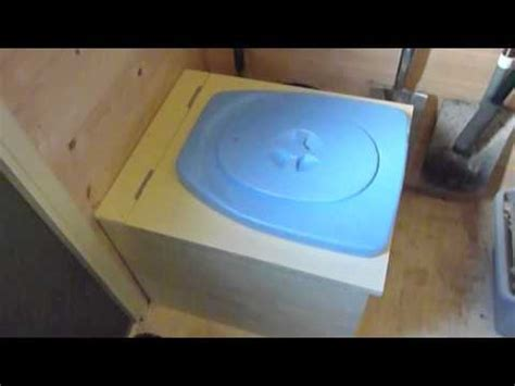 Diy Composting Toilet Youtube by Diy Compost Toilet Installation Privy 500 In Shed Youtube
