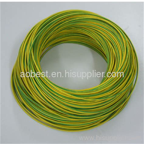 pvc insulated electric wire green yellow earth building