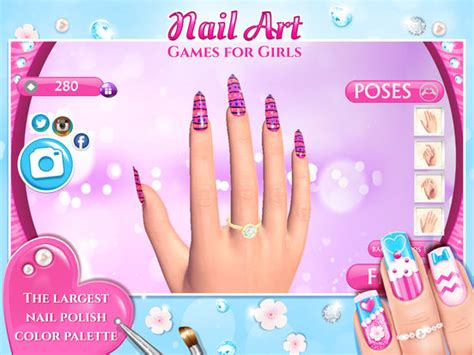 app shopper nail art games  girls top star manicure