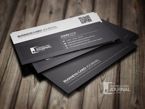black and white business card template 50 best free psd business card templates designscrazed
