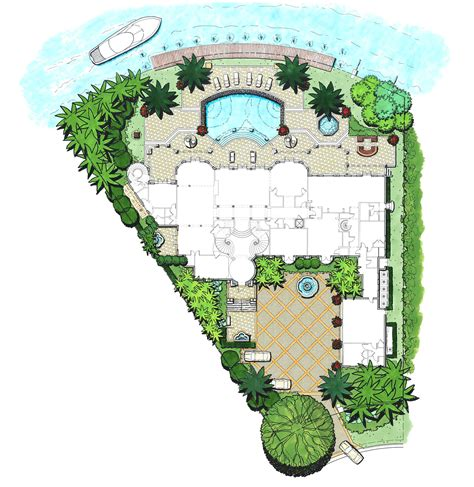 villa landscape layout villa magnolia landscape design workshop boca raton