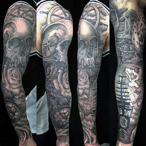 nautical tattoo sleeve 40 nautical sleeve tattoos for seafaring ink deisgn