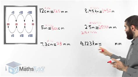 how to m maths help converting units of length youtube