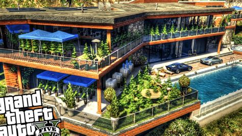 weed house franklin s illegal growing weed house gta 5 pc mod youtube