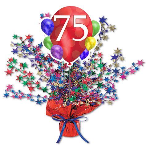 75th birthday centerpieces 75th birthday supplies 75th balloon blast centerpiece