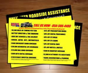 motor club of america towing business cards