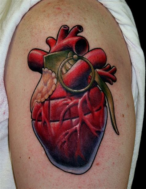 tattoo heart nipples 26 best grenade tattoos images on grenade