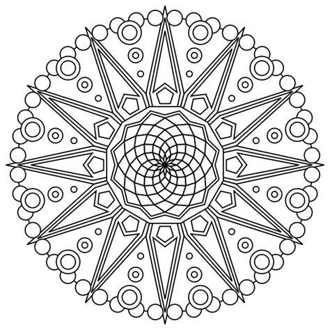 free coloring pages mandala designs free printable mandala coloring pages fractals mandalas