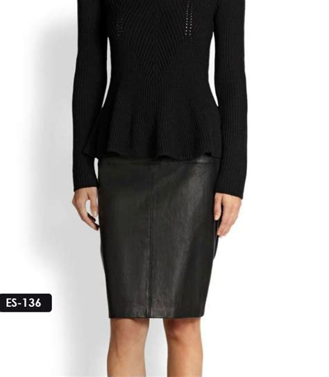 sydney leather jacket panel pencil leather skirt by