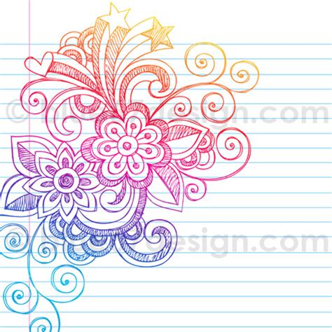 doodle flower design sketchy notebook doodle abstract flower design