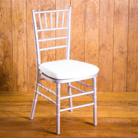 silver chiavari chair with pad rental houston peerless