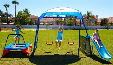 jump and swing set swing sets with troline swing and jump your way to
