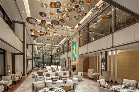 hotel light installation lasvit new langham chicago design insider