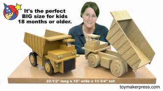 Build Wooden Toy Truck by Wood Toy Plans Giant Coal Mine Truck Youtube