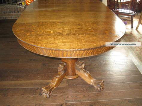 dining table tiger oak antique dining table