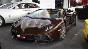 Lamborghini Dubai For Sale A Unique Chocolate Brown Lamborghini Aventador Is For Sale