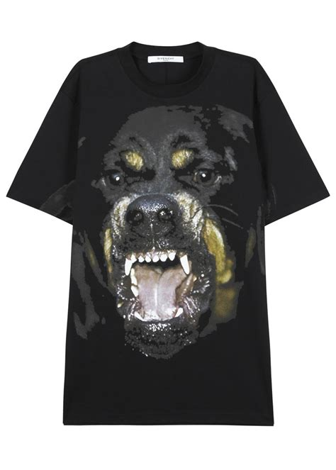 givenchy black rottweiler shirt givenchy black oversized rottweiler t shirt in black lyst