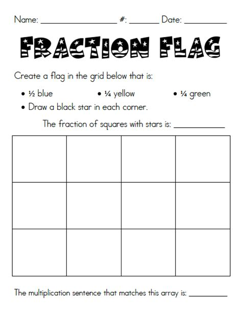 yay third grade fraction freebie