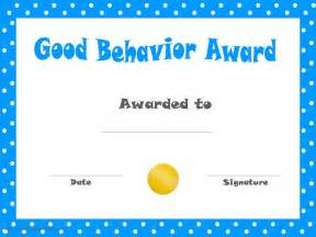 Kid Certificate Templates Free Printable by Behavior Printable Certificates