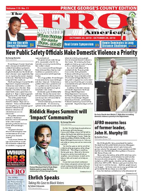 Prince George S County Arrest Records Prince George S County Afro American Newspaper October 23 2010 Docshare Tips