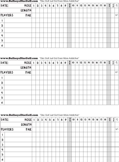 scorecard template free golf scorecard templates for excel pdf and word