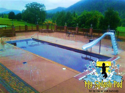backyard splash park splash pad and pool water filled rec area in petersburg west virginia