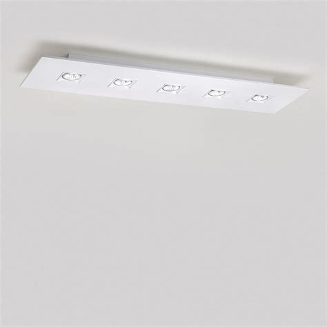 Rectangular Flush Mount Ceiling Light Polifemo 5 Light Rectangular Ceiling Flush Mount By Lightology Collection Lc 1049