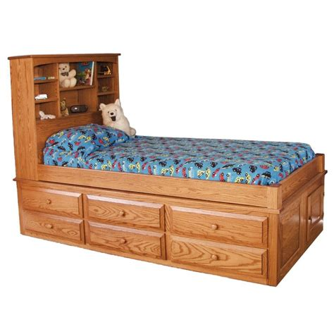 Bed With Drawers Captain S Bed With 6 Drawers Amish Made Captains Bed
