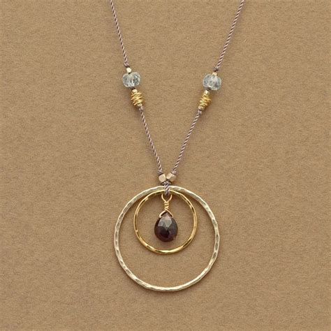 Artistic Handmade Jewelry - best 20 circle necklace ideas on gold circle