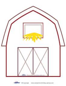 Barn Template by Large Printable Barn Decoration