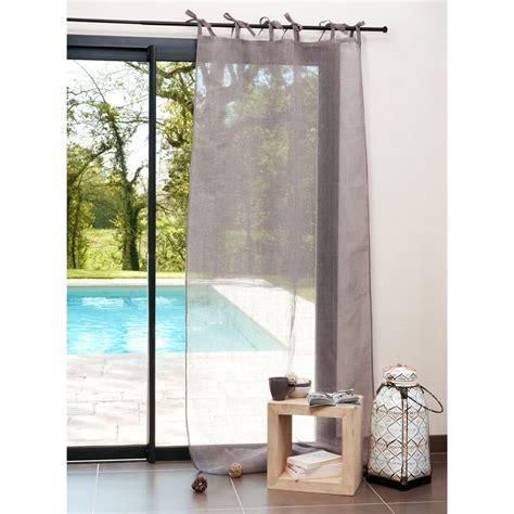 tende con laccetti tenda grigia in lino con laccetti 105 x 300 cm maisons