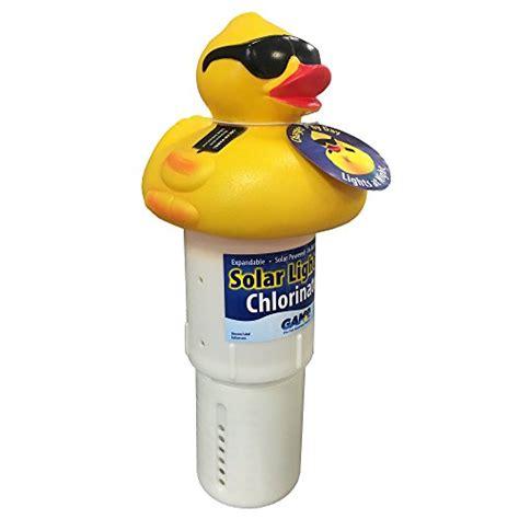 duck solar light blue wave derby duck solar light up pool spa chlorinator