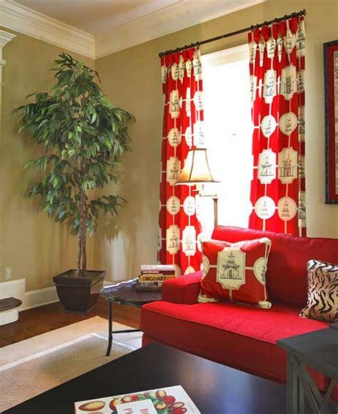 35 fotos de cortinas rojas que inspiran