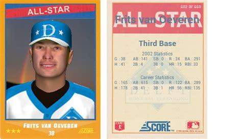 ootp baseball card templates 1988 score baseball card template ootp developments forums