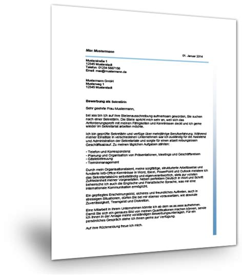 Bewerbung Chefarztsekretärin Anschreiben Bewerbung Als Sekret 228 Rin Als Professionelle Vorlage