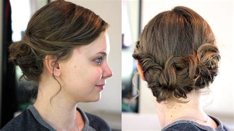 hairstyles for medium length hair dailymotion easy updo for medium shoulder length hair youtube