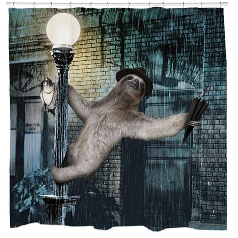 slothzilla shower curtain slothzilla shower 28 images sharp shirter slothzilla