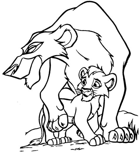 Coloring Pages Simba S Pride Fun Site The King 2 Coloring Pages