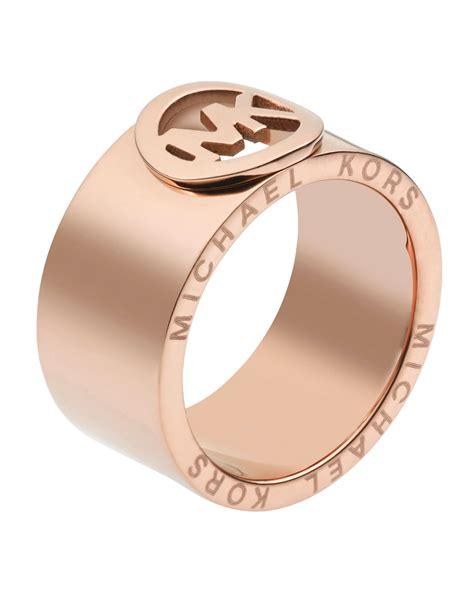michael kors fulton ring golden in pink gold