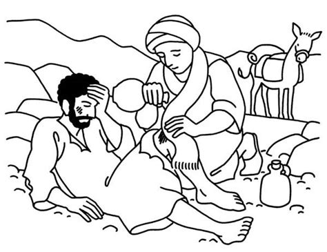 coloring pages for the good samaritan story good samaritan aid travellers wound coloring page netart